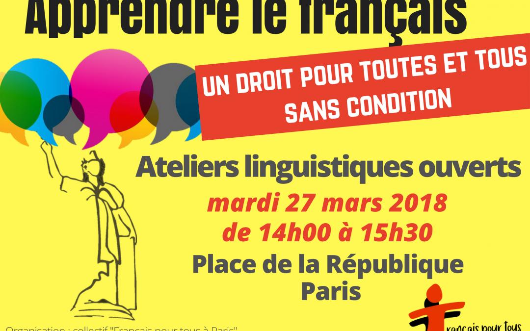 Événement «Le Français pour tous à Paris»