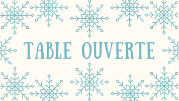 Table Ouverte Hiver 2018