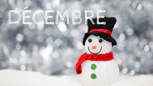 Programme de Décembre 2019 – le dernier de l'année !