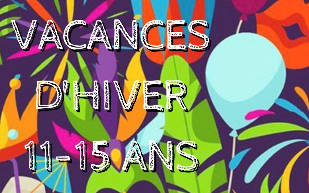 Programme [11-15], vacances d'Hiver